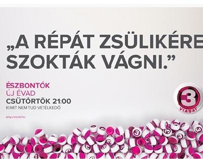 Viasat TV - Észbontók headline campaign