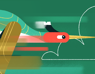 Rushing Birds - Prints