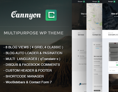 Cannyon - Premium Multipurpose WordPress Theme