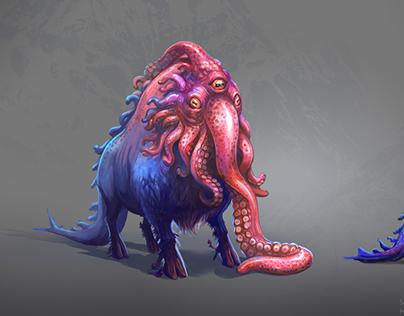 Underwater squidalo creature