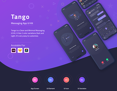 Tango Messaging App (Dark Version)