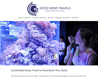 Good News Travels Website Design