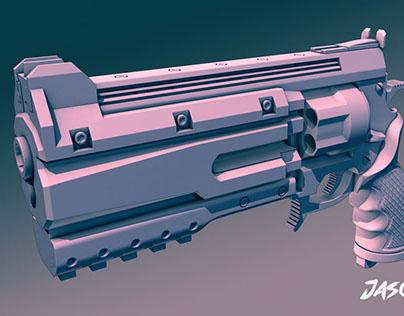 High Poly Pistol WIP
