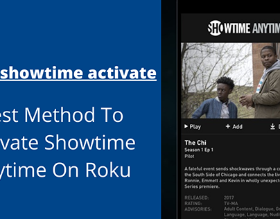 Best Method To Activate Showtime Anytime On Roku