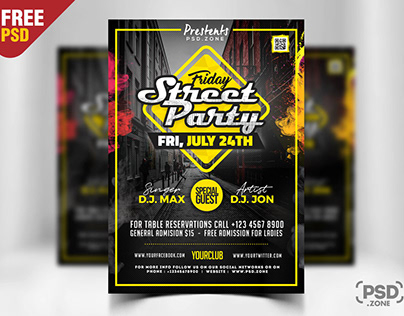 Street Party Flyer PSD Template