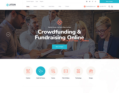 Jitsin - Template For Crowdfunding Projects & Charity