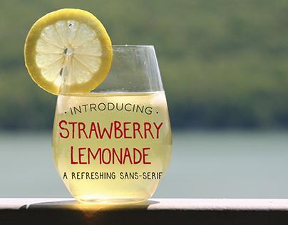 Strawberry Lemonade Font