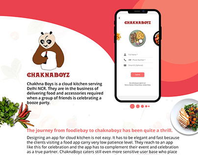 Web and mobile app for food delivery