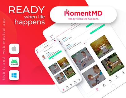 MomentMD medical multi platform app