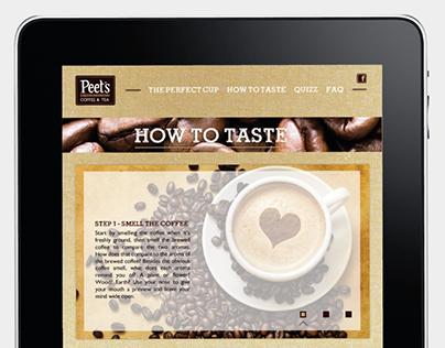 [ WEBDESIGN ] Peet's Coffee