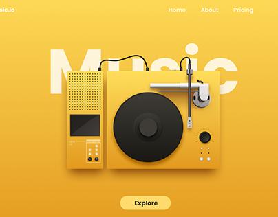 Music Streaming app landing page