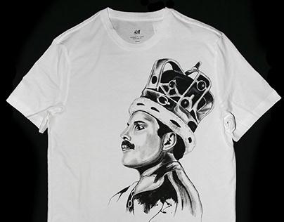 Hand painted T-shirt Mercury