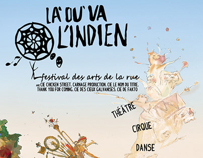 "Festival ""Là où va l'indien"" - illlustration 2018"
