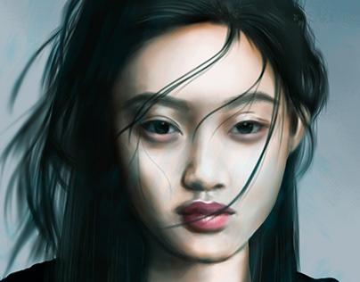Retrato chica Asiática