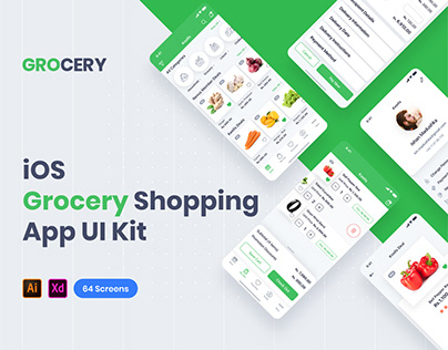 Grocery Shopping App UI Kit