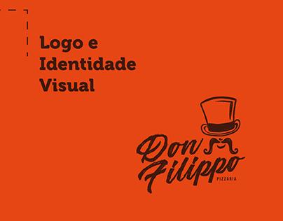 Logo e Identidade Visual - Don Filippo Pizzaria