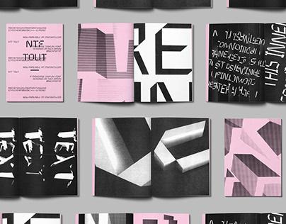 NTF Tout - Typeface Design