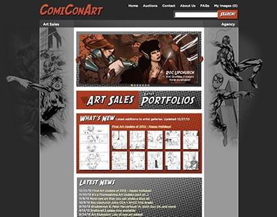 ComiConArt Site Design