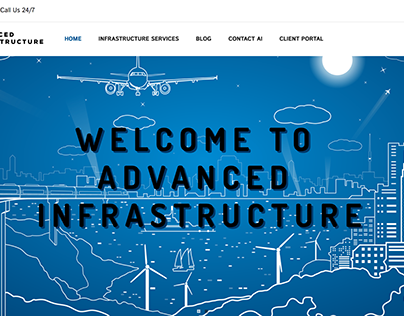Advanced Infrastructure Website Mockup