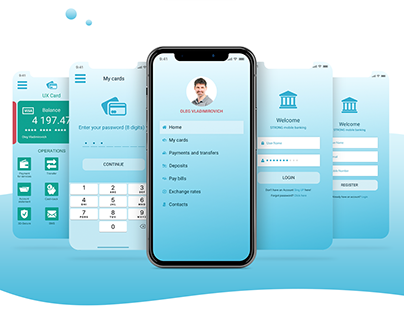Mobile application for bank customers