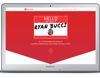 Portfolio Website Design and Branding Mockup