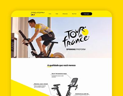 Landing Page - Proform Tour the France