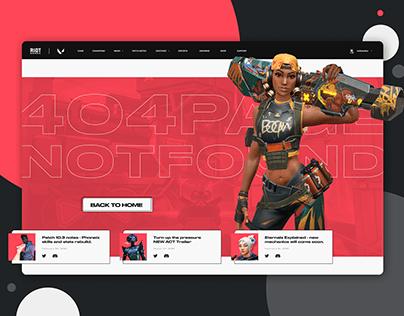 Valorant- 404 Error Page Concept Design