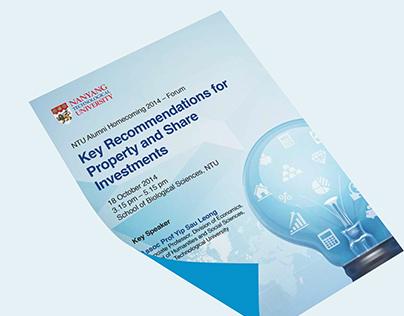 NTU forum poster, flyer design