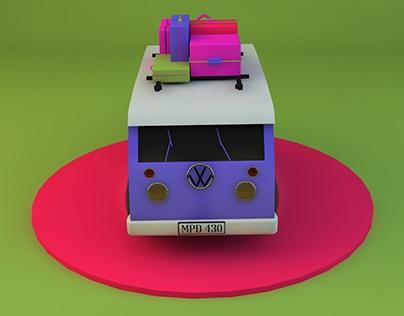 Volkswagen (Polygonal Modeling)