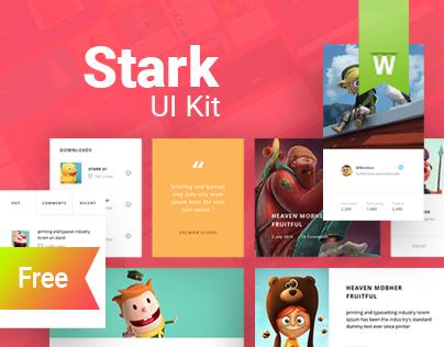 Free PSD Stark UI Kit