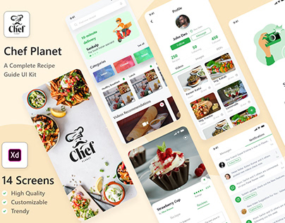 Food Recipe App UI Kit