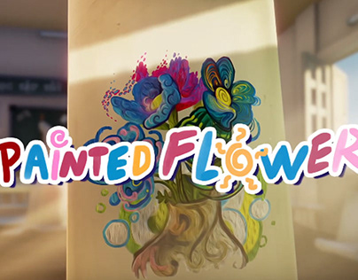 Painted Flower short 360 Animation