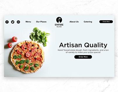Empire Slice Pizza Branding and Website Design
