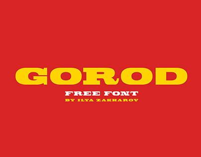 GOROD FREE FONT