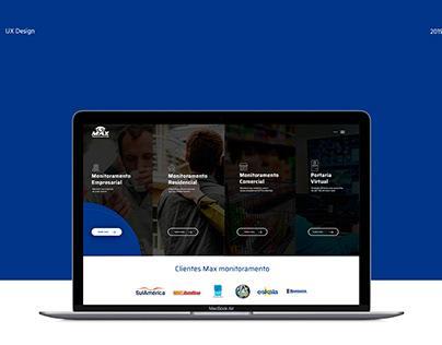 Max Monitoramento - web site