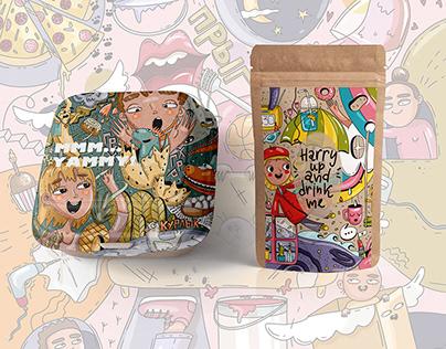 Doodle art in packaging design