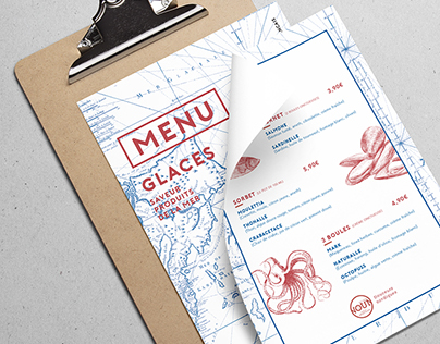 Ice cream menu SEAFOOD