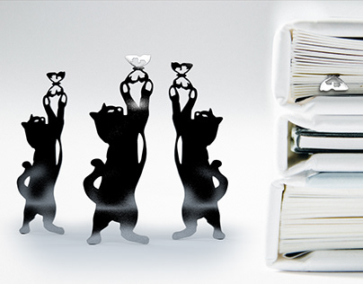 Drawing a cat and rendering a bookmark for books