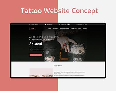 Tattoo studio website concept