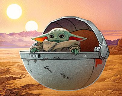 Star Wars Mandalorian Tribute - Baby Yoda Floats