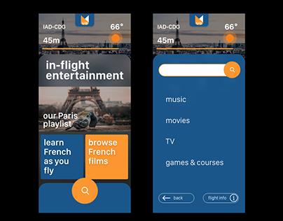 In-Flight Entertainment App Concept