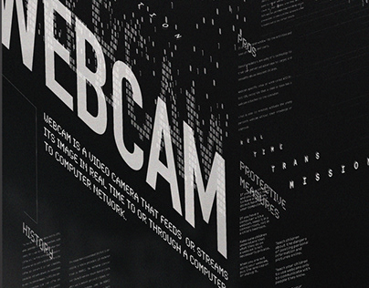 Typographic Poster: Webcam Connotative Poster
