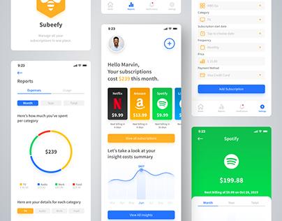 Subeefy - Subscription Management App