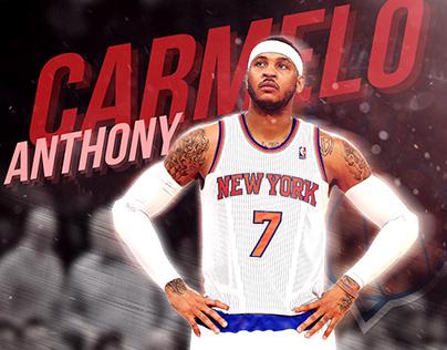 MONTAGE PHOTOSHOP   CARMELO ANTHONY NY Knicks