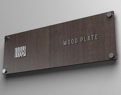 Wood Plate Logo Mockup