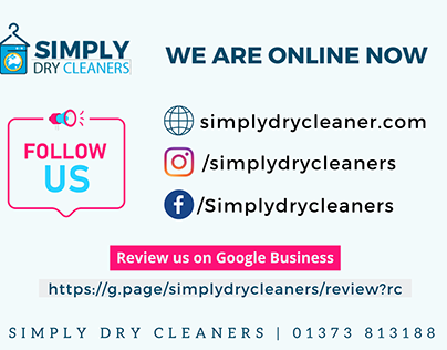Social Media Graphics for Dry Cleaners (UK)
