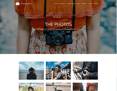 Photos 3 Columns - Photography WordPress Theme
