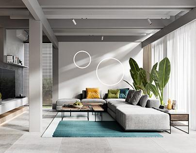 CGI:House in minimalism