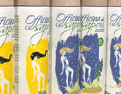 Packaging Illustration for Officina dei Saponi