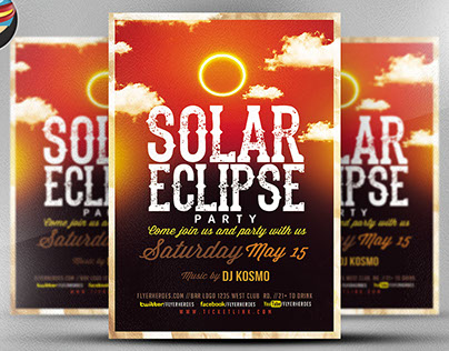 Solar Eclips Party V2 Flyer Template